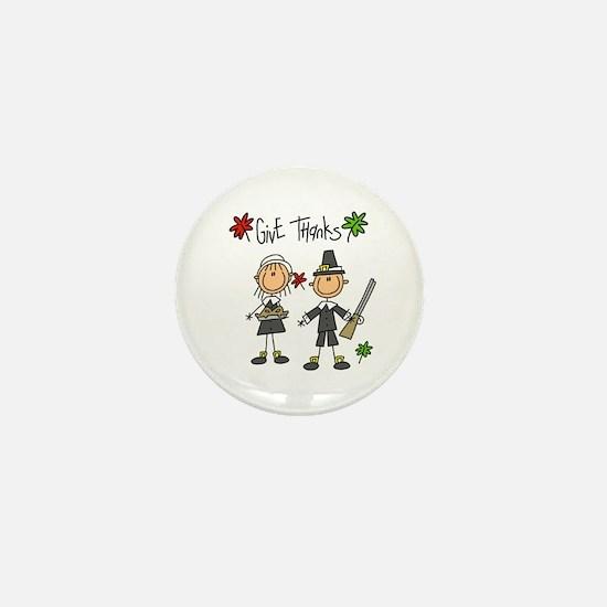 Pilgrims Thanksgiving Mini Button (10 pack)