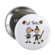 "Pilgrims Thanksgiving 2.25"" Button (10 pack)"