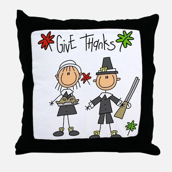 Pilgrims Thanksgiving Throw Pillow