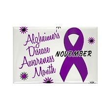 Alzheimers Awareness Month 1.1 Rectangle Magnet
