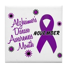Alzheimers Awareness Month 1.1 Tile Coaster