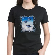 Ice Blue butterflies T-Shirt