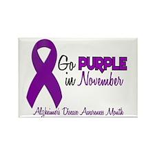 Alzheimers Awareness Month 1.2 Rectangle Magnet