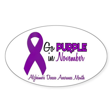 Alzheimers Awareness Month 1.2 Oval Sticker