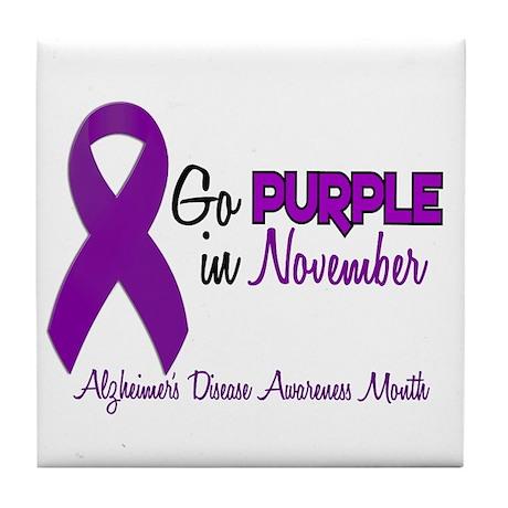 Alzheimers Awareness Month 1.2 Tile Coaster
