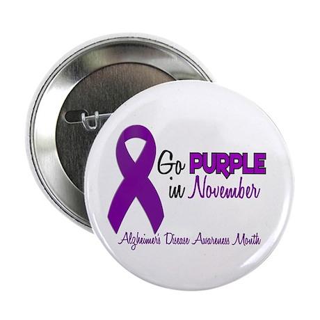 """Alzheimers Awareness Month 1.2 2.25"""" Button"""