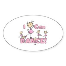 I Can Dance Oval Decal