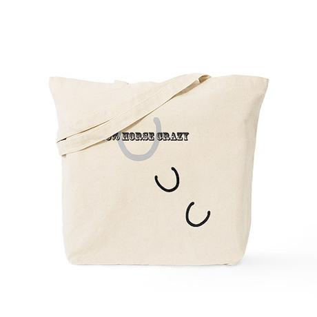 100% Horse Crazy Tote Bag