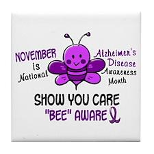 Alzheimers Awareness Month 4.1 Tile Coaster