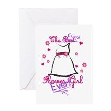 Cutest Flower Girl Ever! Purple Greeting Card