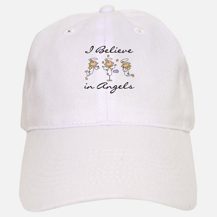 I Believe in Angels Baseball Baseball Cap