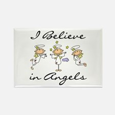 I Believe in Angels Rectangle Magnet
