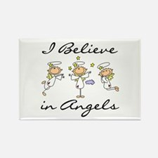 I Believe in Angels Rectangle Magnet (10 pack)
