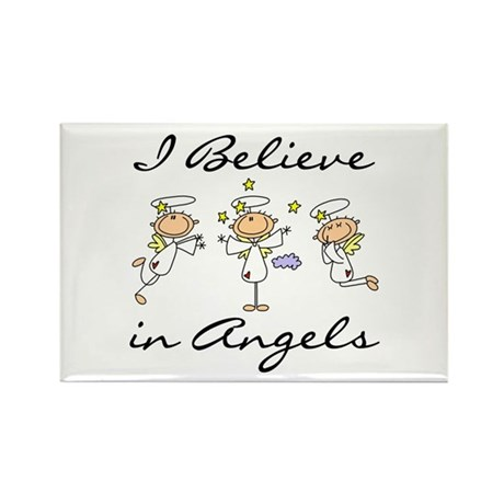 I Believe in Angels Rectangle Magnet (100 pack)