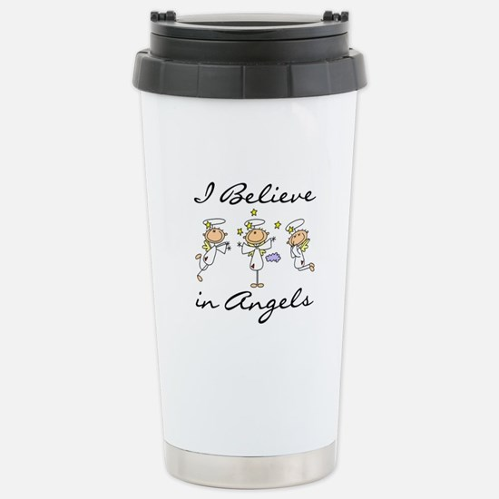 I Believe in Angels Stainless Steel Travel Mug