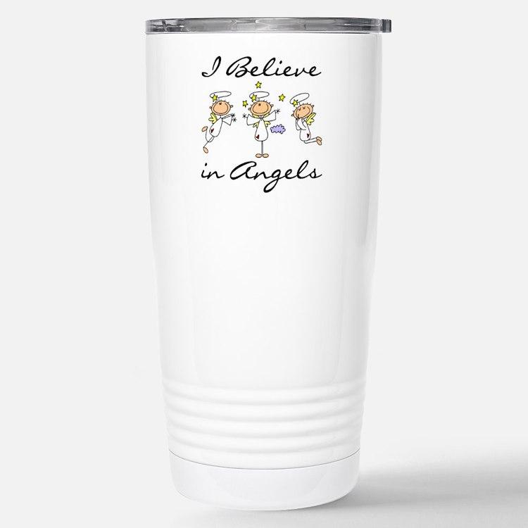 I Believe in Angels Stainless Steel Travel Mug
