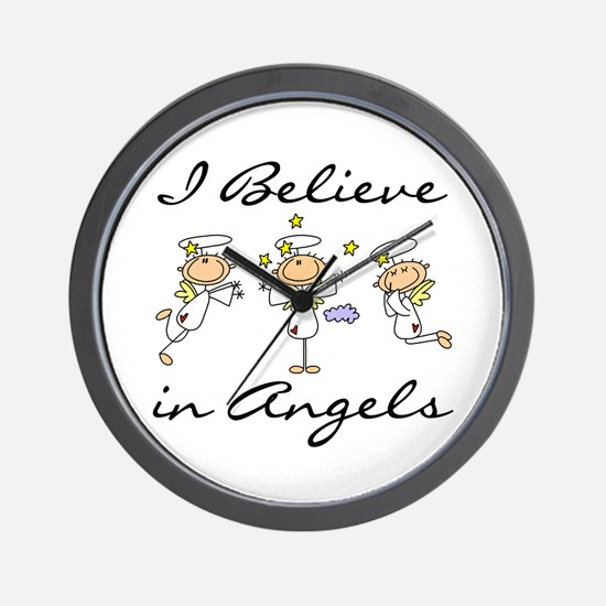I Believe in Angels Wall Clock