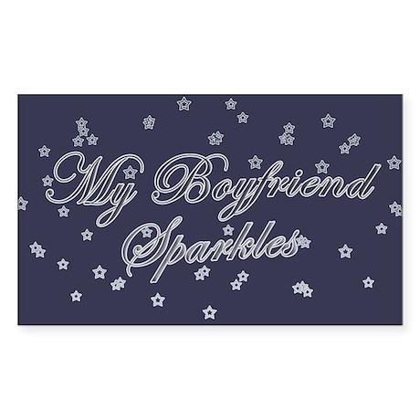 """""""My Boyfriend Sparkles"""" Rectangle Sticker"""