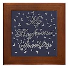 """""""My Boyfriend Sparkles"""" Framed Tile"""