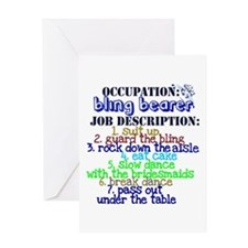 Occupation Bling Bearer Blue Greeting Card