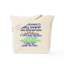 Occupation Bling Bearer Blue Tote Bag