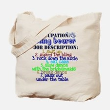 Occupation Bling Bearer Blue Tote Bag