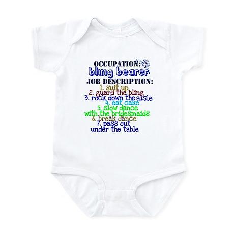 Occupation Bling Bearer Blue Infant Bodysuit