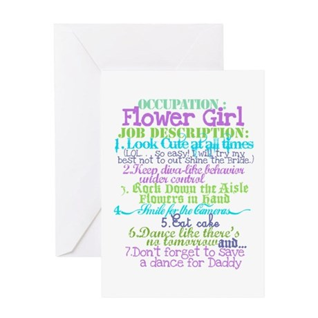 Occupation Flower Girl Lilac Greeting Card