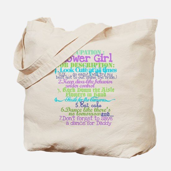Occupation Flower Girl Lilac Tote Bag