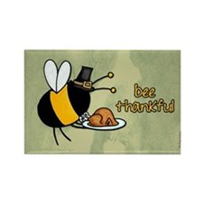 bee thankful Rectangle Magnet