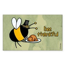 bee thankful Rectangle Decal