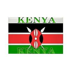 Kenya Kenyan Flag Rectangle Magnet (100 pack)