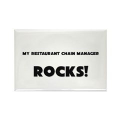 MY Restaurant Chain Manager ROCKS! Rectangle Magne