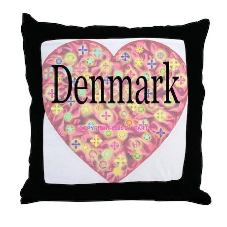 LOVE Denmark Throw Pillow