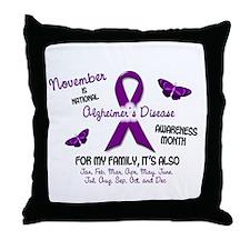Alzheimers Awareness Month 2.2 Throw Pillow