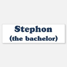Stephon the bachelor Bumper Bumper Bumper Sticker