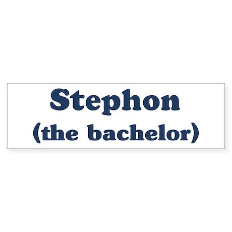Stephon the bachelor Bumper Sticker