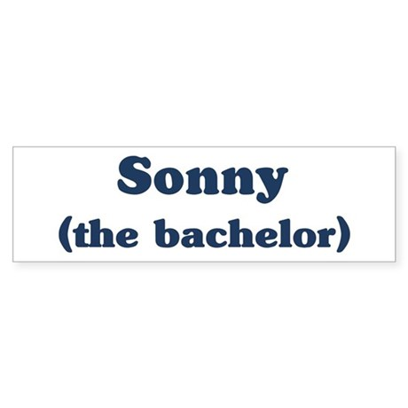 Sonny the bachelor Bumper Sticker