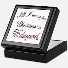 Edward for Christmas Keepsake Box