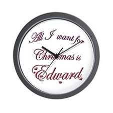 Edward for Christmas Wall Clock