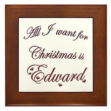 Edward for Christmas Framed Tile