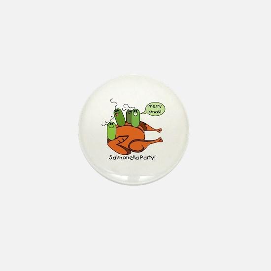 Salmonella Party Mini Button