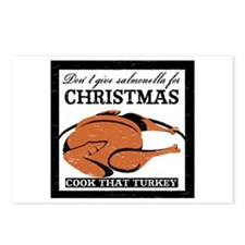 Salmonella Xmas Postcards (Package of 8)