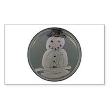 Snowman Rectangle Decal