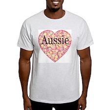 LOVE Aussie Ash Grey T-Shirt