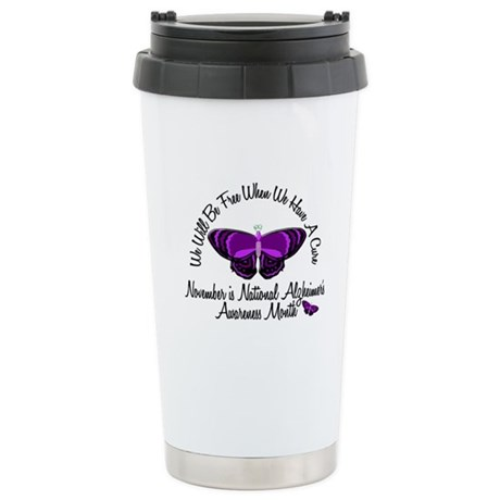 Alzheimers Awareness Month 3.2 Stainless Steel Tra