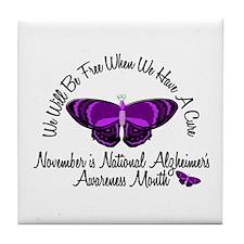 Alzheimers Awareness Month 3.2 Tile Coaster