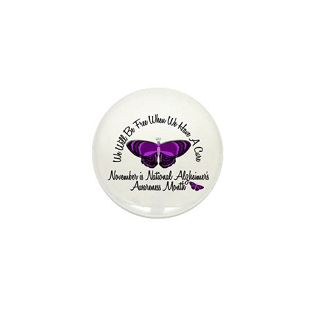 Alzheimers Awareness Month 3.2 Mini Button (100 pa