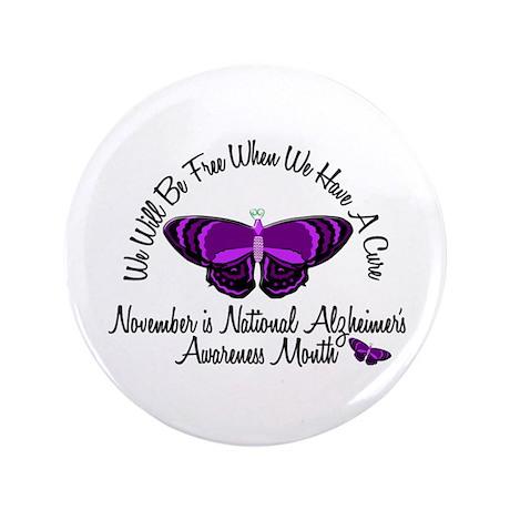 """Alzheimers Awareness Month 3.2 3.5"""" Button"""
