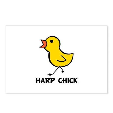 Harp Chick Postcards (Package of 8)